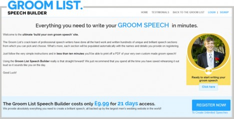 Groom List - Speech Builder