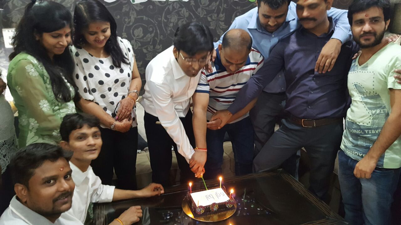 company anniversary celebration - cake cutting ceremony