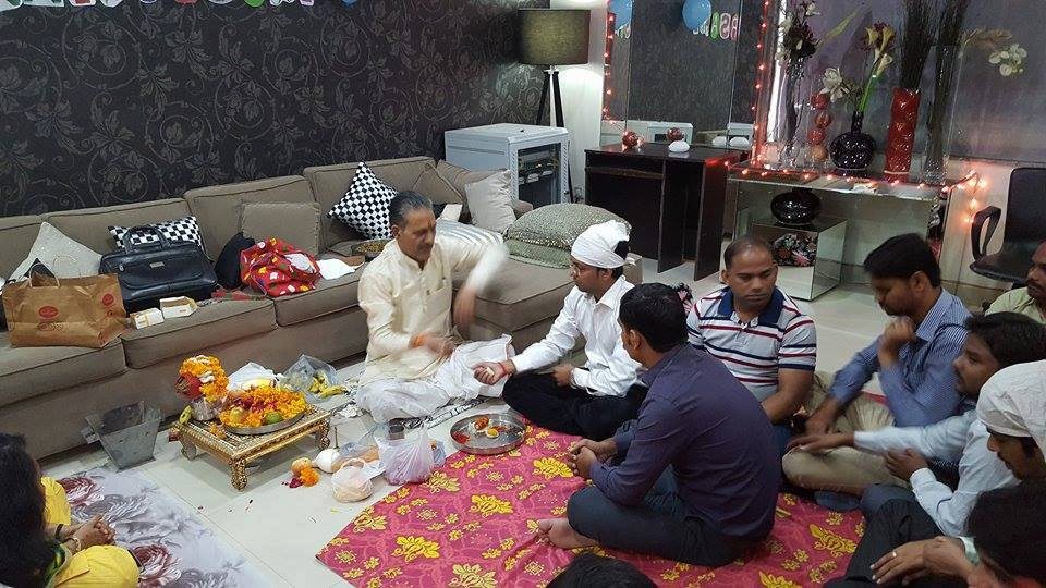 company anniversary celebration puja ceremony