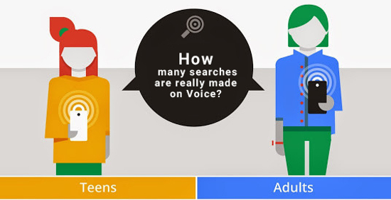 How many searches are really made on voice